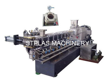 China Double Screw Plastic Compounding Machine For Making PET Bottle Pellets supplier