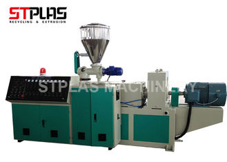 China High Capacity Conical Twin Screw Plastic Extruder Machine For PVC Granulating supplier