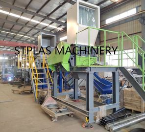 China Economic PET Recycling Machine , High Capacity Hot PET Bottle Flakes Washing Line supplier