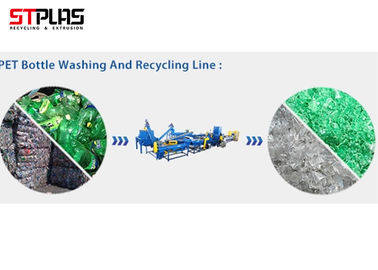 China Semi Automatic Waste PET Washing Line Plastic Crushing Washing Drying Equipment supplier