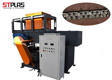 Single Shaft Wood Pallet Plastic Recycling Machine Mini Plastic Shredder