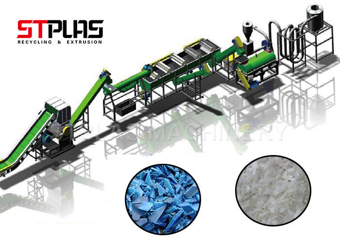 Line HDPE Plastic Washing Recycling Machine With SKD11