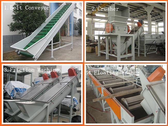 300-800kg/h Film Squeezing Machine For Waste Agricultural Film Dewatering