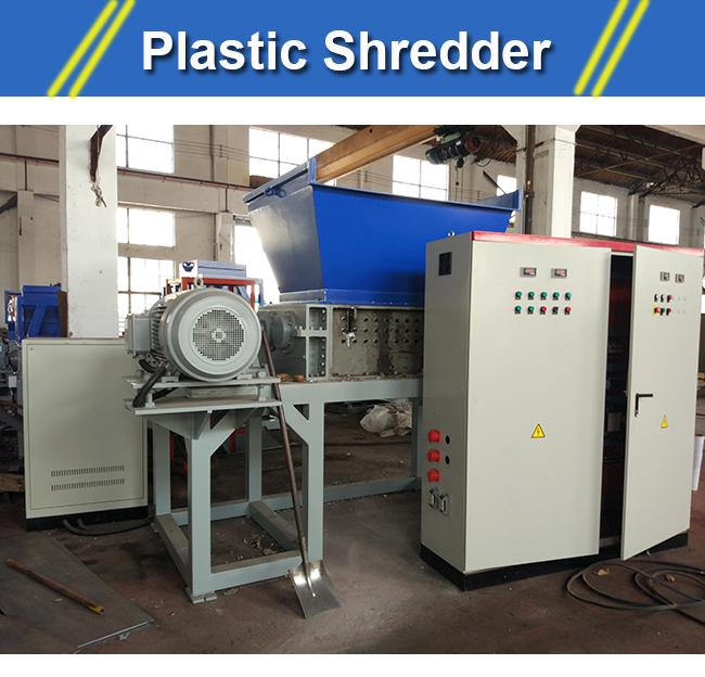 plastic bottle shredder  ST2-1000 plastic PET bottle shredding machine 2*30KW motor