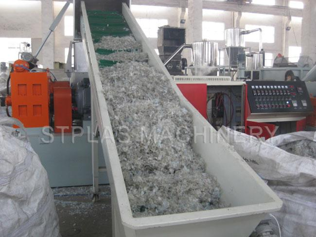 polythene recycling machine plastic granulator machine with hot die face pelletizer