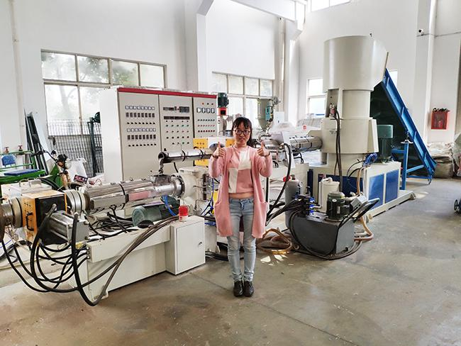 Single screw extruder plastic granulating machine for PP PE material