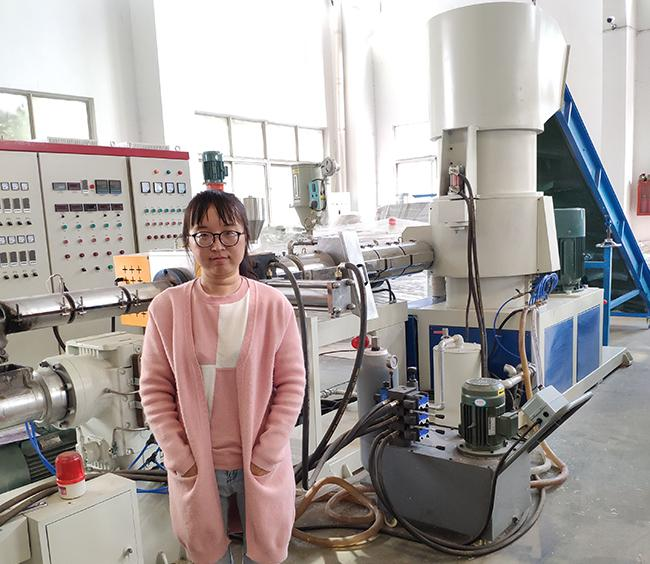 Mother and baby extruder plastic pelletizing machine for PP PE material