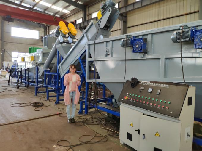 Eco Friendly Plastic Bottle Washing Machine / PET Bottle Recycling Line