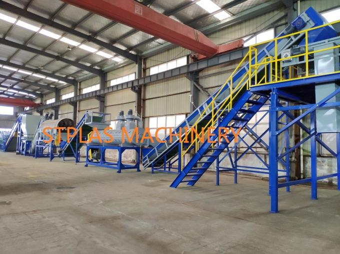 Economic PET Recycling Machine , High Capacity Hot PET Bottle Flakes Washing Line