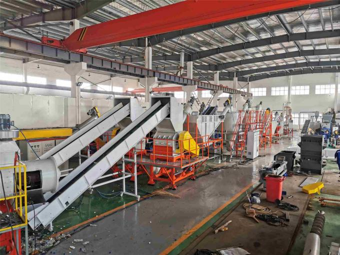 Color Customized Plastic Washing Recycling Machine Line for PET Bottle