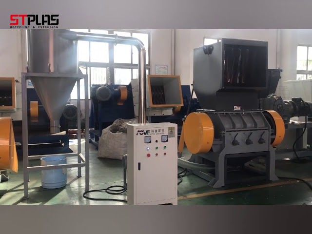 Single Shaft Plastic Bottle Crusher Machine , Plastic Grinding Machine CE Approved