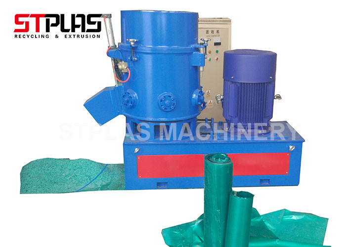 Low Noise Plastic Agglomerator Machine For Green PE Roller Films CE Certification