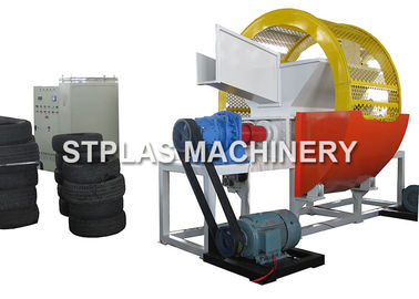High Output Double Shaft Shredder Machine For Car / Truck / Bus Tire Recycling