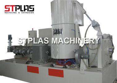 PP PE Film Plastic Agglomerator Machine / Plastic Pelletizing Line Single Screw