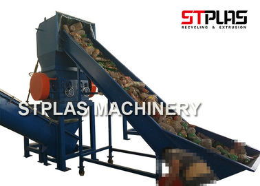 China PET HDPE Plastic Bottle Grinding Machine , Waste Plastic Crusher Energy Saving distributor