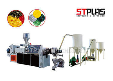 China PVC Waste Plastic Recycling Pellet Machine , PVC Hot Cutting Pelletizing Line factory