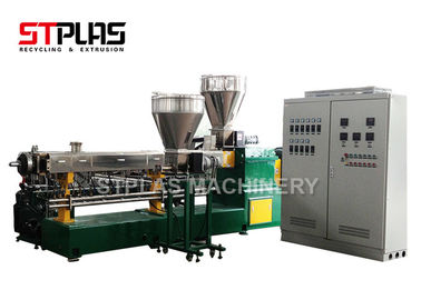 China Parallel Twin Screw Plastic Extruder With Vacuum Exhaust For PP PE HDPE Material distributor