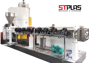 Large Output Single Screw Plastic Extruder , Plastic Recycling Granulator Machine