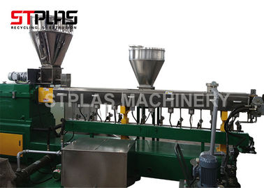 China Auto Parallel Twin Screw Plastic Extruder / Dual Screw Extruder For Granules Making distributor