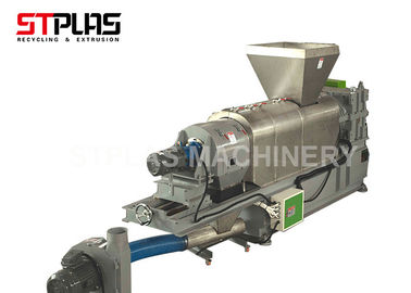 PE PP Squeezing Granulating Dryer For HDPE LDPE Film / Bags Dewatering And Drying