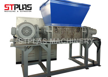 China Heavy Duty Plastic Shredder Machine , Double Shaft Rubber Tire / Wood Shredder factory