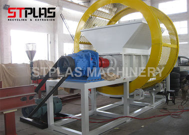 Customizable output Double Shaft Industrial waste tire recycling shredder machine