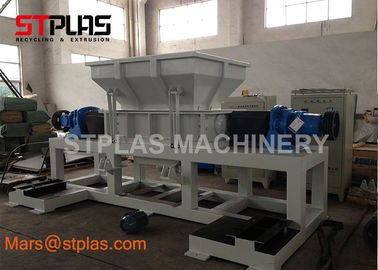 China Double Shaft plastic metal Rubber tire waste Electronic scrap Shredder Machine factory