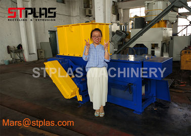 China Waste Hard Plastic Lump HDPE Pipe Plastic Single shaft industry Shredder Machine factory