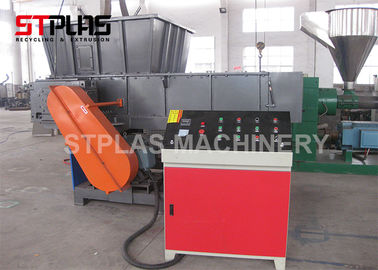 China High Capacity Industrial Plastic Shredder , Plastic Waste Shredding Machine factory