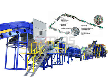 SUS304 Material Plastic Pet Flakes Washing Line , Pet Bottle Recycling Machine