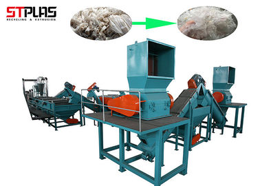 Fast LDPE Waste Film Recycling Machine And Washing Line With Long Service