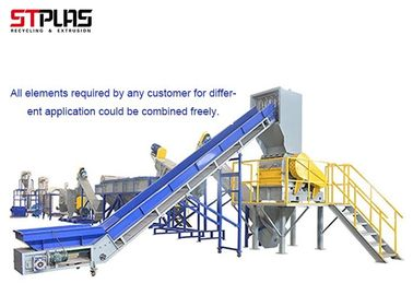 LDPE Agriculture Pe Film Washing Line , Plastic Film Recycling Machine
