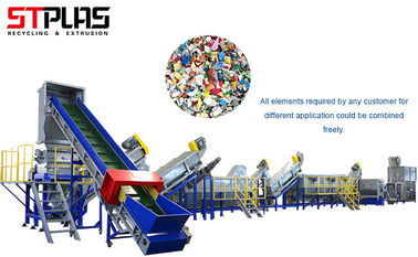 3000kg / H Plastic Recycling Equipment For PP PE Material , Energy Saving