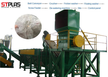 China Plastic PP PE Film Washing Line Scrap Recycling Crushing Drying Production factory