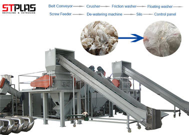 China CE Passed PP PE Film Washing Line , LDPE Film Recycling Line High Speed factory