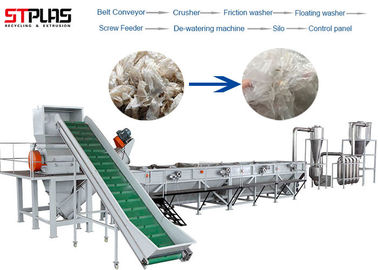 China OEM LDPE PP PE Film Washing Line Scrap Recycling Production Semi Automatic factory